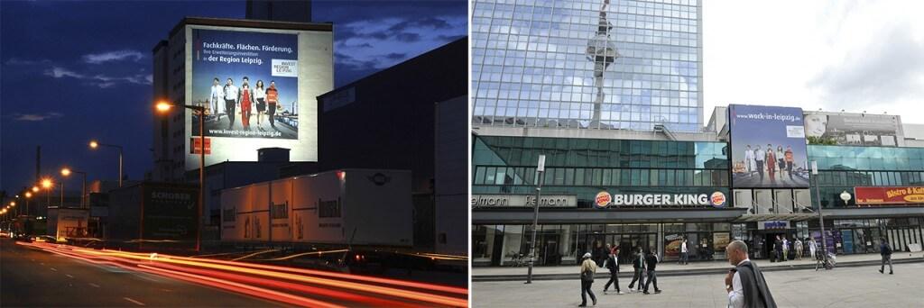 Standorte IRL Riesenposter in Berlin und Stuttgart